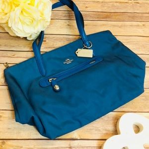 Coach Teal Blue Tote Bag